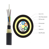 Factory high quality g652d adss optic fiber cable draka fibra optica cable