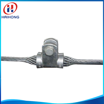 Helical preformed suspension clamp for OPGW cable