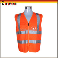 Custom made workwear reflective fishing vest 5xl