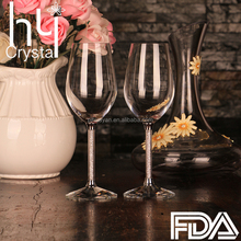 FDA Crystal glassware party red wine goblet wine glass gift box with rhinestone