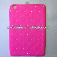 Diamante silicon case back cover for mini ipad