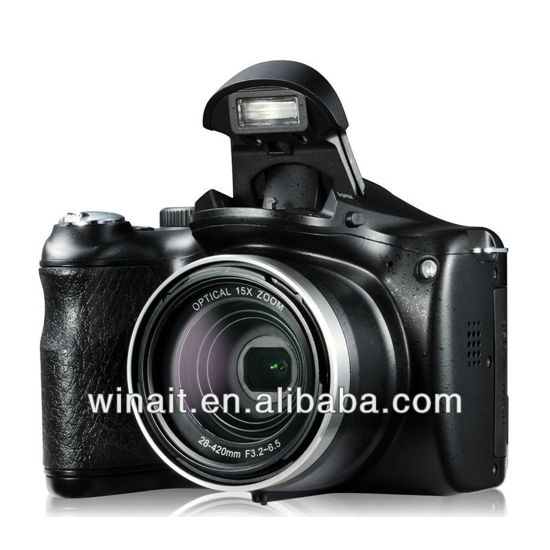 Cheap Wholesale Digital SLR Cameras with 14.1M CMOS sensor 720P HD 21X Intelligent zoom