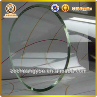 Large diameter sealed cylinder pyrex clear glass tube