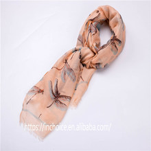 Women Beautiful dragonfly skimmer odonate print animal Infinity Scarves Wraps