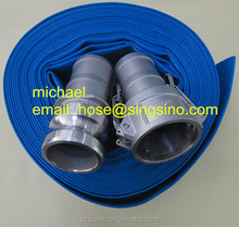 PVC Layflat Hose With Camlock Couplings C E / Discharge Hose Assembly 4Bar 6Bar