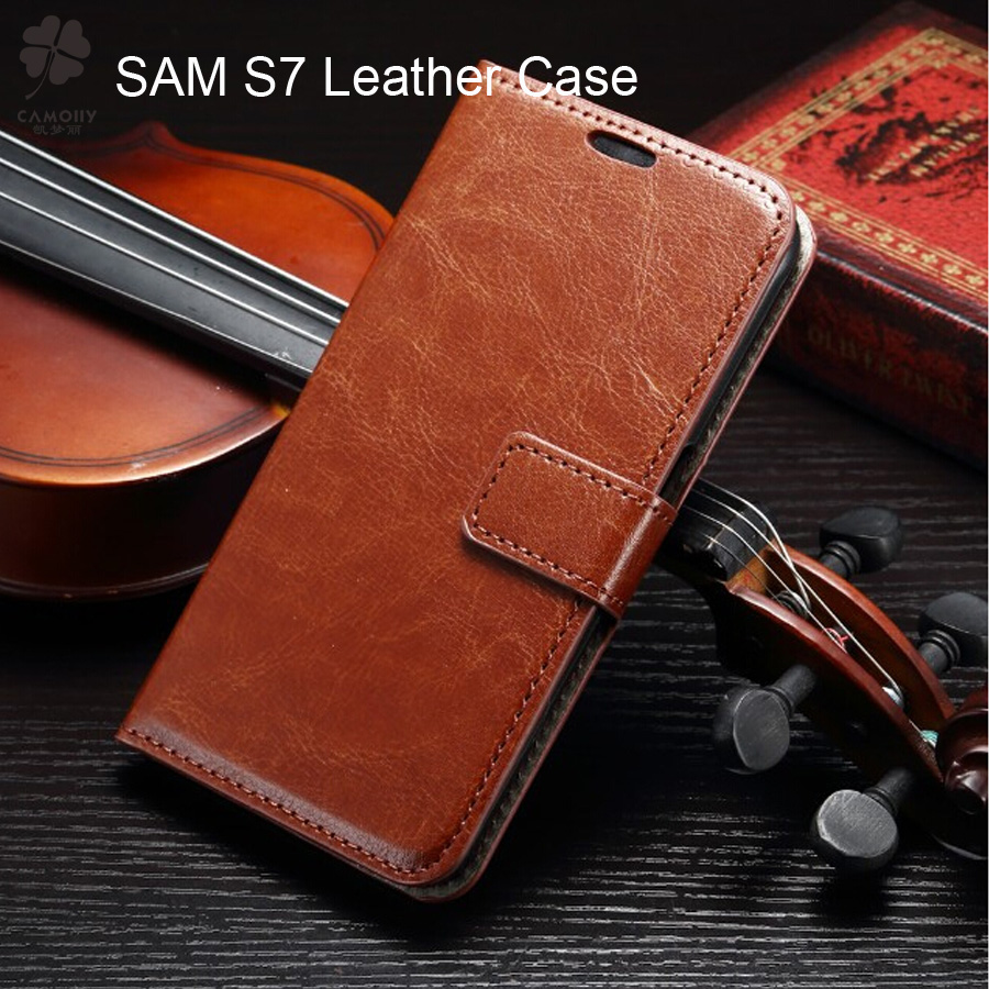 china supplier wholesale S7 leather phone case for samsung galaxy s7 mobile cover flip leather case