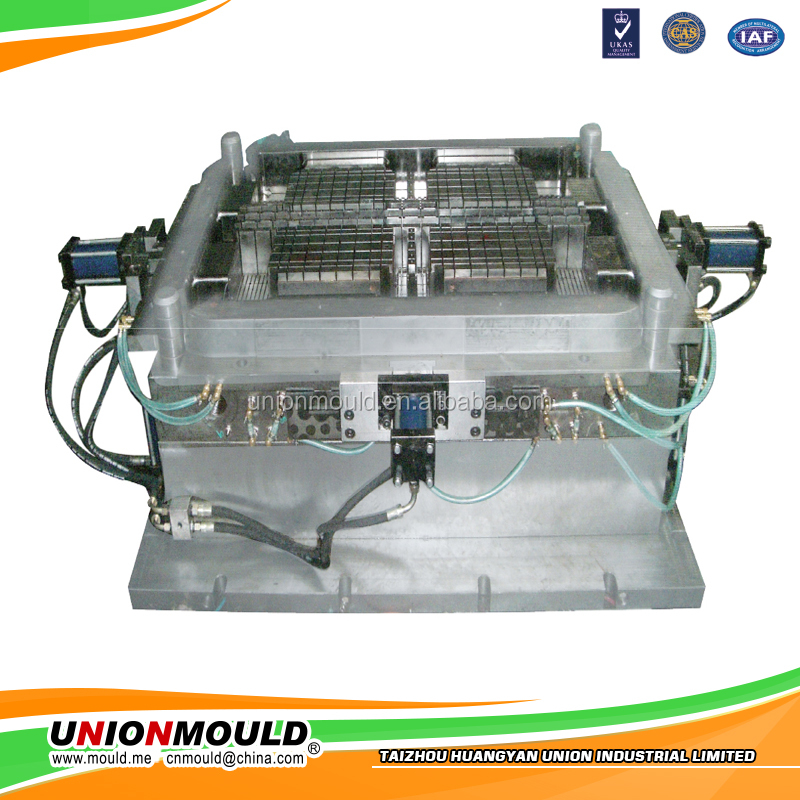 plastic crate mould /12 bottles beer case mould/foldable plastic crate mould