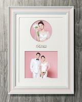 Multiple Photos Decoration Wooden Wall White Collage Photo Picture Frame