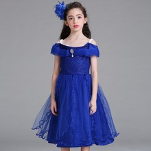 2017 Hot Selling <strong>Girl's</strong> Party <strong>Dress</strong> Flower Lace Girl <strong>Dress</strong> Children Frock Designs Party Wear <strong>Dress</strong> LM8807