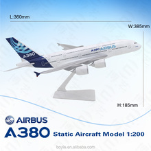 36cm Airplane Model 1: 200 Ture to Scale Aircraft Model 380 Airbus Passenger Plane Model for Home Decoration