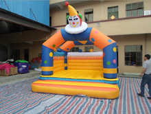 happy clown inflatable bouncer/inflatable jumping house