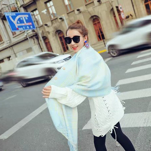 Winter new style fashion trend all-match imitation cashmere checked shawl scarf
