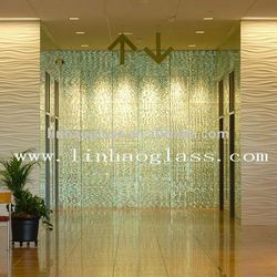 glass feature wall