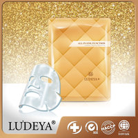 Private Label Service LUDEYA Gold Repairing Bio Cellulose Skin Beauty Care Mask Sheet