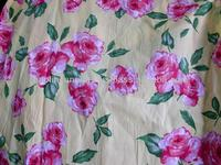 Cotton printed woven fabric