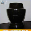 Cheap European Style Shanxi Black Granite Cemetery Vase