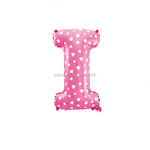 Novelty custom free shipping Foil letter Balloons,alphabet Balloon for wedding decorations