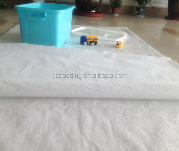 white sticky adhesive backed carpet felt with PE coating