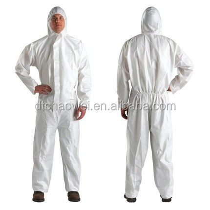 PP+PE/SF Disposable coverall/ protective chemical suit