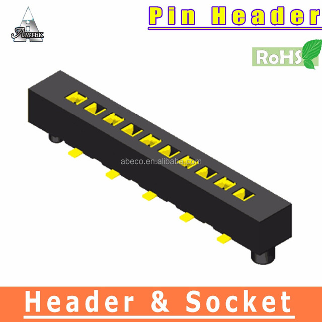 rohs compliant Bottom Entry SMT Connector 1.27mm pitch Female Header