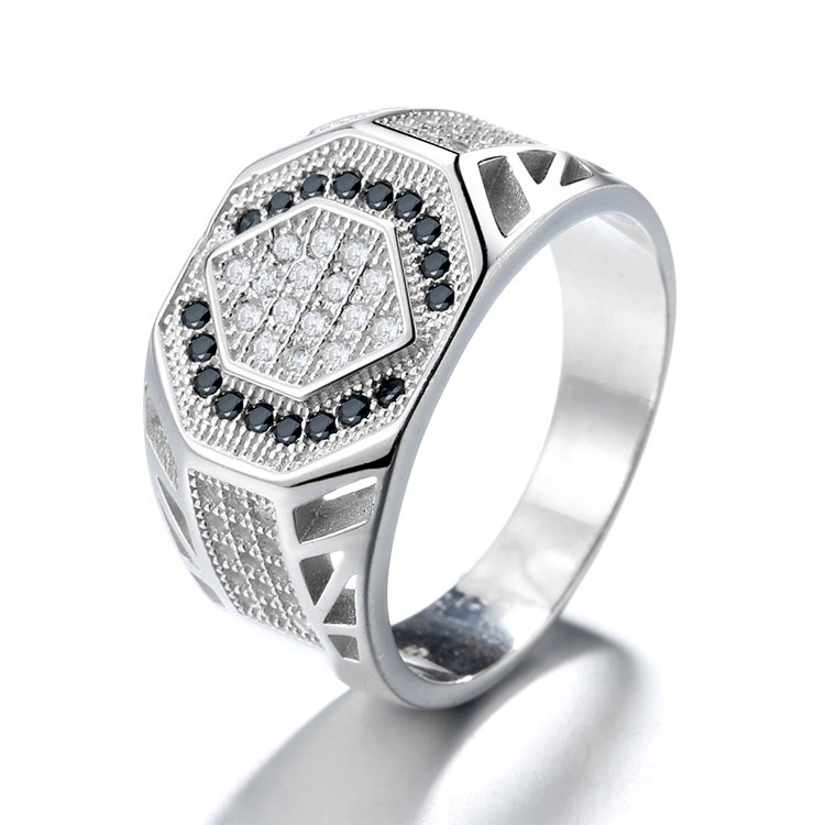 Latest Designed Men 925 Sterling Silver Black Spinnel Gemstone <strong>Ring</strong>