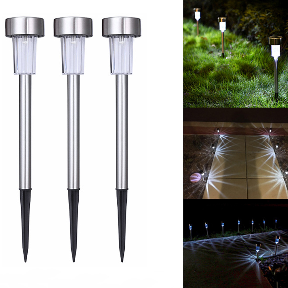 promotion Cheap Small light operated Stainless steel IP44 Outdoor pathway LED Solar Light for Garden