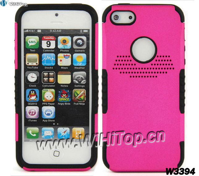 For iPhone 5 Defended Hybrid PC Silicon Case Top Quality.