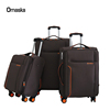 Famous Brand Nylon Valise Brown Material Matching Color Fashion Vintage Luggage Bag