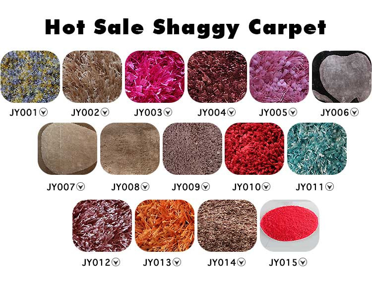 Comfortable High Quality Dining China Design Polyester Shaggy Carpets