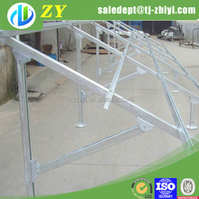 Hot dipped galvanized solar panel support structures/solar ground mounting systems