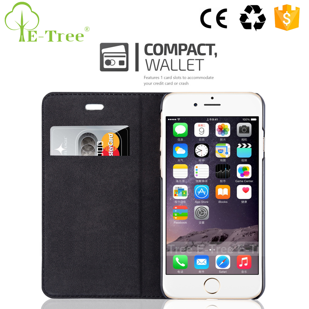 ODM Leather Phone Case Custom For Apple iPhone 6S Mobile Phone Wallet Filp Cover