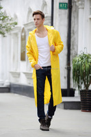 High quality outdoor waterproof long raincoat poncho for heavy rain