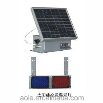 solar-powered led road warning beacon light