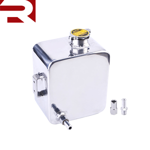 Universal 2 Litre Polished Alloy Water Coolant Overflow Expansion Tank
