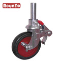 Scaffolding Caster for heavy duty with Cast Iron and Rubber wheel