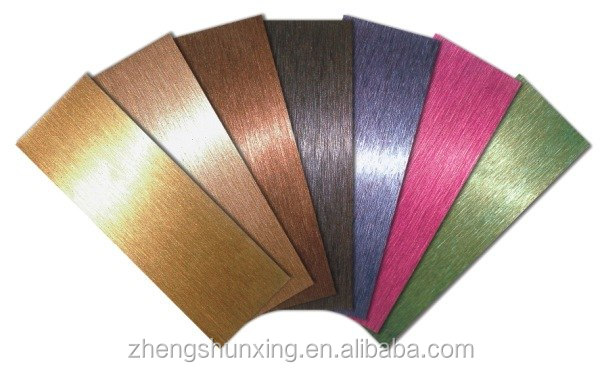 customized 4x8 colored stainless steel decorative sheets for wall panel