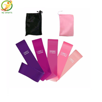 New product Custom pilates popular elastic yoga fitness band for exercise resistance loop bands