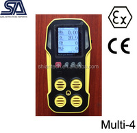CE Certified Handheld 4 Gas Monitor for CH4, CO, O2, H2S