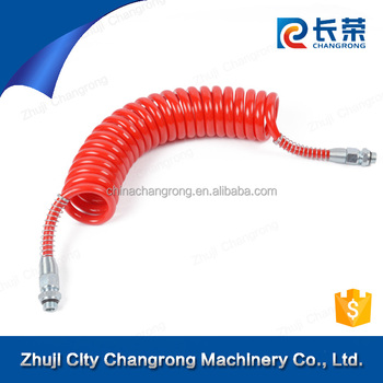 high quality truck sprial air brake coil Pneumatic air Coil Hose PU flexible air brake coils
