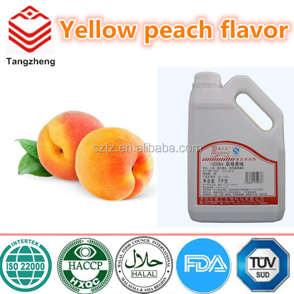 Yellow peach flavouring concentrate flavor for soft drink