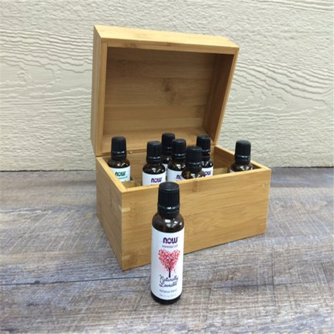 Clamshell pine wood essential oil box 10ml 15ml wooden Chocolate box