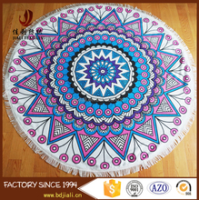 high quality microfiber 480gsm custom printed round beach towels mandala