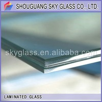 6.38mm/10.38mm laminated /safety clear/color glass for building with low price