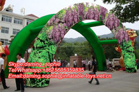 Inflatable Wisteria Arch for Wedding Party Events Decoration
