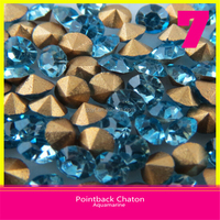 Pointback Rhinestone Chatons Crystal Point Back Rhinestones