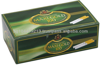 Filtered Cigarette Tubes Maxi Gold