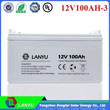 Made in china premium quality various styles 12V 100ah solar gel battery /LYGEAL12V100A468