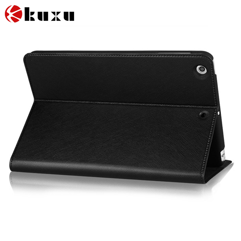 Unique two size pu leather tablet case flip leather case for iPad anime laptop case