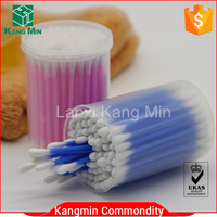 90pcs colored plastic stick cotton buds in PP round box