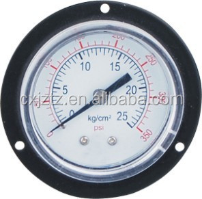 Y50ZQ 50mm General Pressure Gauge ,Black Steel Case With Front Flange , Back Coonction